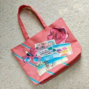 🌵Vintage Lancôme French Riviera Beach Tote Bag